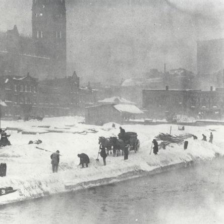 View from State St Bridge circa 1900